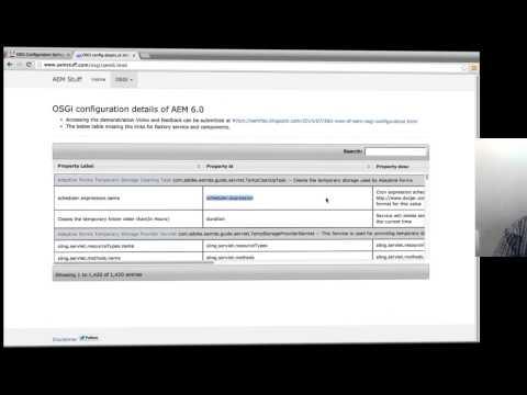 360 View of AEM Osgi configuration | FAQ