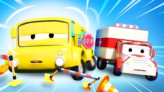Amber the Ambulance -  Lily Takes Cold Medication That Makes Her Drowsy - Car City ! Trucks Cartoons