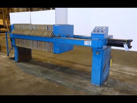 Used- Siemens J-Press Filter Press, 800G32-32-16DYLS - stock # 48606004