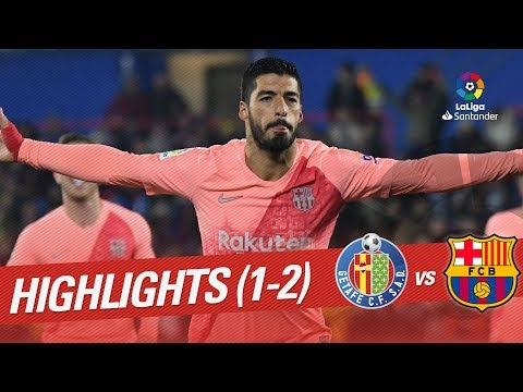 Highlights Getafe CF vs FC Barcelona (1-2)