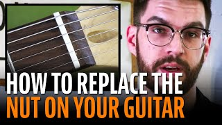 Watch the Trade Secrets Video, Easy Stratocaster mod: How to replace the nut on your guitar