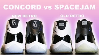 AIR JORDAN 11 CONCORD vs SPACE JAM