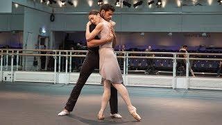 Marianela Nuñez and Thiago Soares of The Royal Ballet rehearse Winter Dreams – World Ballet Day 2018