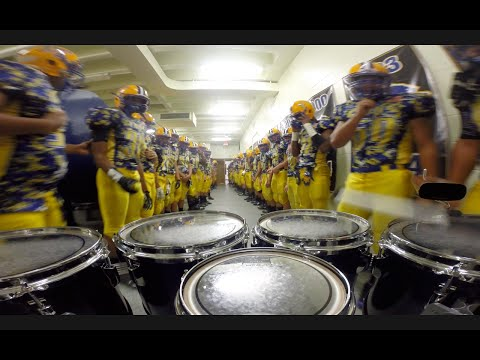 LT Drumline Football Team March Out Tenor Cam