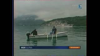 Pollution PCB du Lac d'ANNECY, 1er mars 2008,  journal d'infos de FR3 TV