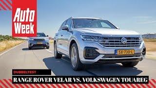 Range Rover Velar vs. Volkswagen Touareg - AutoWeek dubbeltest