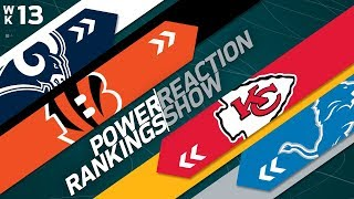 Power Rankings Week 13 Reaction Show: Are the Surging Falcons Super Bowl Bound? | NFLN