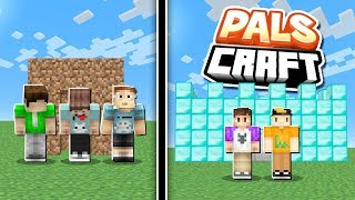NOOBS vs. PROS BUILDING CONTEST! | PalsCraft #10