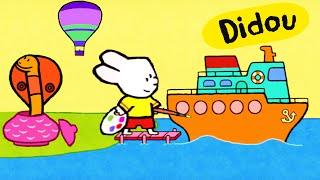Didou, dessine-moi une Montgolfière, un paquebot et un serpent | Dessin animé pour enfants