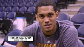 Backstage Lakers  Jordan Clarkson