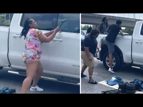 Good Samaritans Smash Truck Windows of Driver Who Passed Out