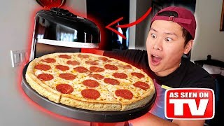 THIS SPINS AND INSTANTLY MAKES PIZZA!!! DIY Learn How To Make Pizza (TESTING CRAZY GADGETS)