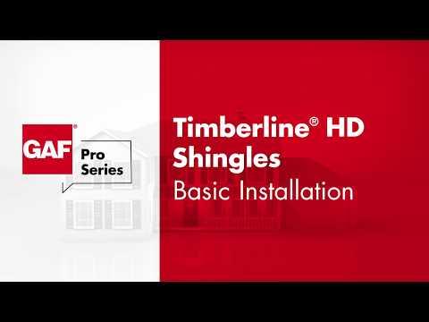 GAF Pro Series Timberline® Shingles Basic Install
