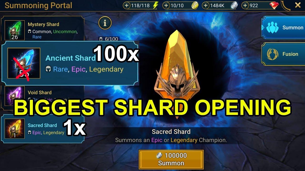 100 ANCIENT SHARDS + 1 SACRED SHARD OPENING - RAID: Shadow Legends -  Episode 24
