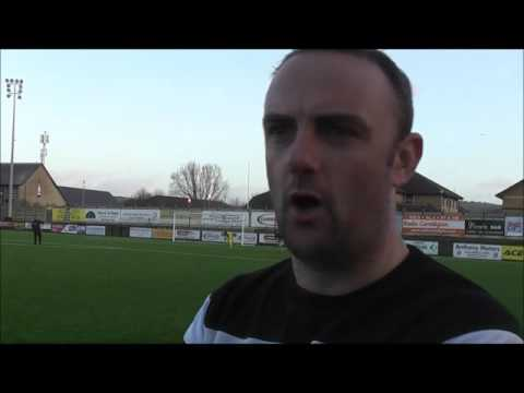Chris Hughes talking after Aber defeat