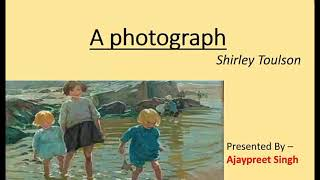A Photograph by Shirley Toulson (Hindi) (Class 11) (Hornbill )full explanation