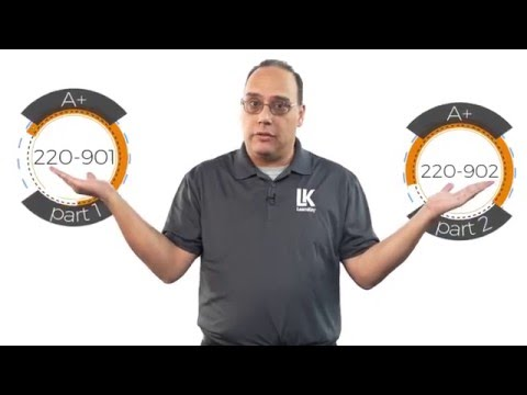 A+ (220-901 and 220-902) Series - LearnKey course promo