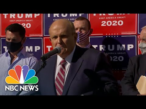 Trump Attorney Rudy Giuliani Vows Lawsuits Challenging Votes in Pennsylvania | NBC News