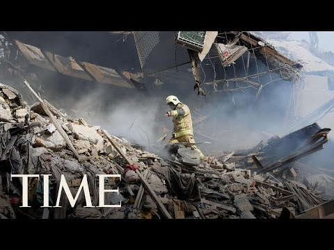 Fire Causes Famous Tehran Highrise To Collapse, Killing 30 Firefighters   TIME