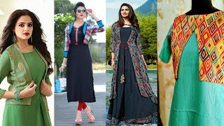 Latest Navratri Designer kurti with jacket Designs for Girls / Women / Ladies Outfit Collection