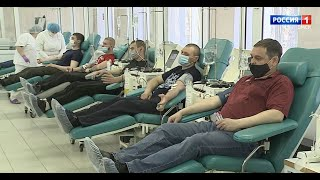 В день донора омичи массово сдают кровь