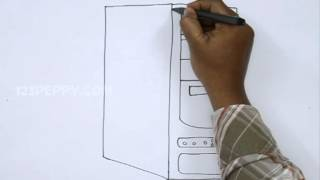 How to Draw a CPU Case