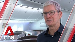 Apple CEO Tim Cook visits Singapore Airlines