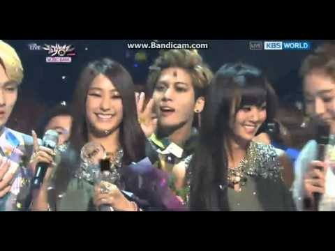 130301 music bank sistar 19 win with shinee