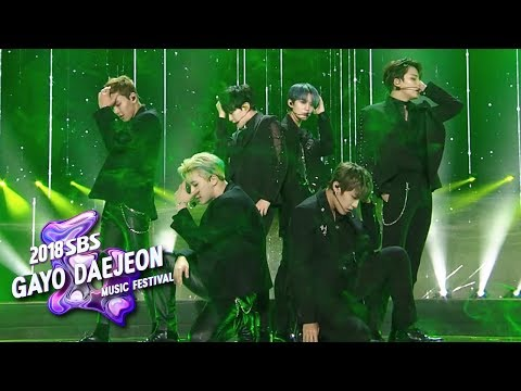 MONSTA X+SEVENTEEN+Wanna One - Again and Again [2018 SBS Gayo Daejeon Music Festival]