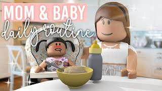 Mom & Baby Daily Routine | Roblox Bloxburg Roleplay | alixia