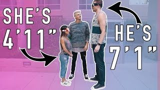 BLIND DATE! 7 FOOT TALL GUY MEETS 4 FOOT TALL GIRL!
