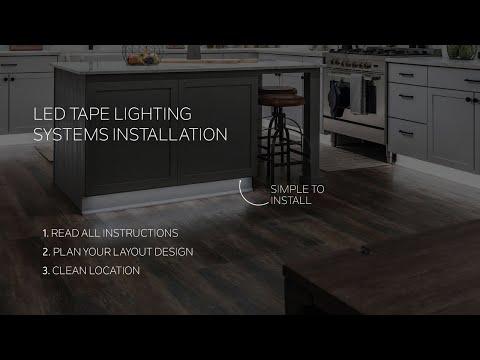 Kichler Tape Light Installation