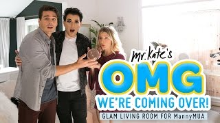 Mystical Glam Living Room/Office Makeover for Manny MUA