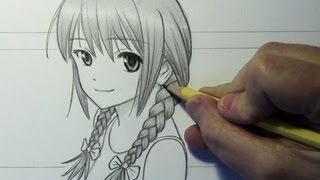 Outstanding Drawing Time Lapse Girl With Braids Youtube Hairstyle Inspiration Daily Dogsangcom