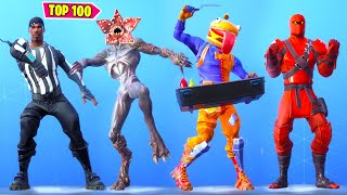 TOP 100 FORTNITE DANCES & EMOTES LOOKS BETTER WITH THESE SKINS.!