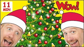 Christmas Tree Song for Children + MORE Stories for Kids from Steve and Maggie   Wow English TV