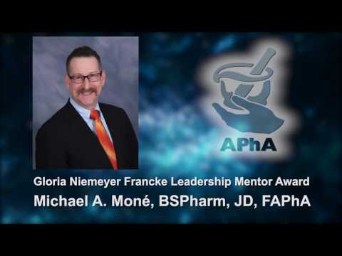 Michael A. Moné - 2016 Gloria Niemeyer Francke Leadership Mentor Award Recipient