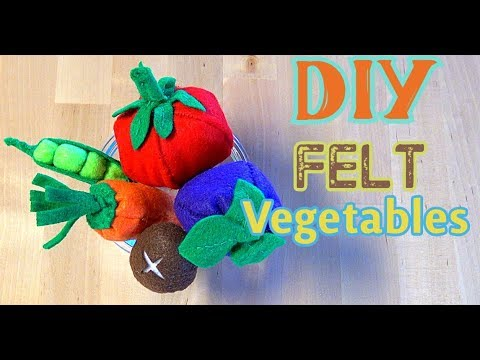 DIY Felt Vegetables CREATIVE IMAGINATION PLAY FOR KIDS