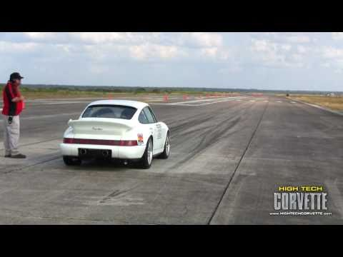 220+ mph Porsche at the Texas Mile - October 2010