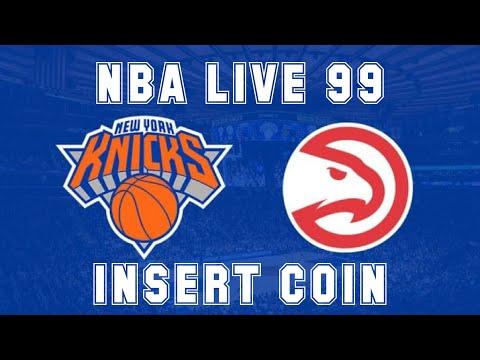 NBA Live 99 (1998) - Play Station - Atlanta Hawks vs New York Knicks