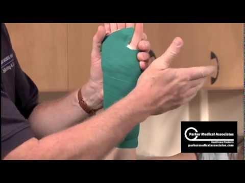 Volar Dorsal Splint Technique Youtube