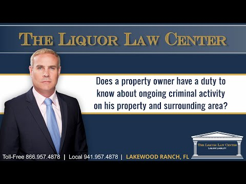 Does a property owner have a duty to know about ongoing criminal activity in his property and..