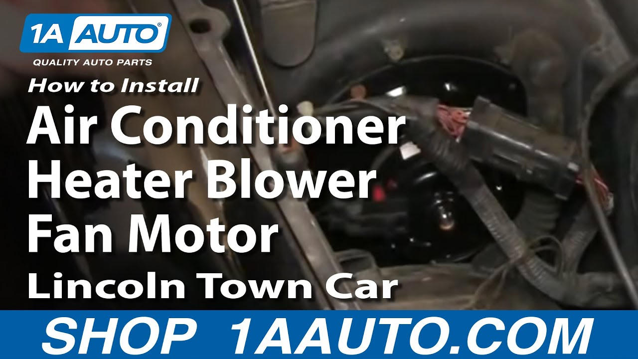 How To Install Replace Air Conditioner Heater Blower Fan