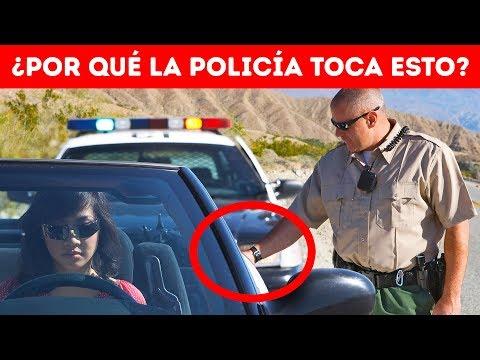 ¿Por qué los policías tocan la luz trasera del auto? ¡Es muy importante!
