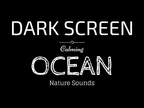 OCEAN WAVES Sounds for Sleeping Dark Screen | Sleep and Relaxation | Black Screen