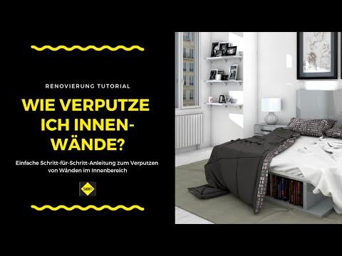 innenwand verputzen sakret heimwerker tv. Black Bedroom Furniture Sets. Home Design Ideas