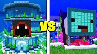 Skeppy vs BadBoyHalo UNDERWATER House Battle! - Minecraft