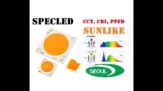 Светодиоды SunLike от SeoulSemiconductor. Полный спектр, Ra 97. CCT, COB TRI-R