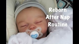 Reborn Baby Isaac's After Naptime Routine! Getting Ready For An Outing!