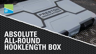 A thumbnail for the match fishing video Absolute All-Round Hooklength Box | PRESTON INNOVATIONS